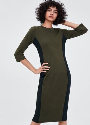 Стильное стройнящее платье-футляр от zara - с - можно на хс, с