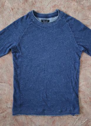 Джемпер мужской котоновый пуловер Zara