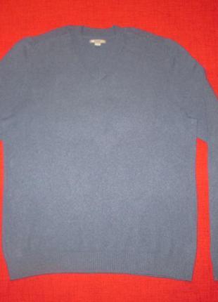 Кашемировый мужской свитер gap пуловер джемпер 100% кашемир