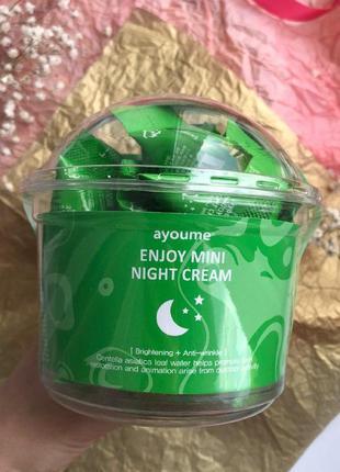 Упаковка 30 шт антивозрастной ночной крем для лица с центеллой...