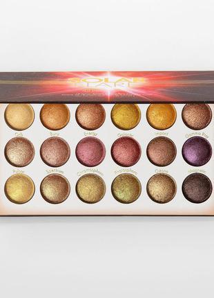 Палетка запеченных теней bh cosmetics solar flare 18 color ори...