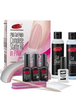 Стартовый набор для маникюра с лампой pnb complete gel polish ...