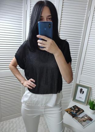 Топ/блуза сетка zara, p-p eur s
