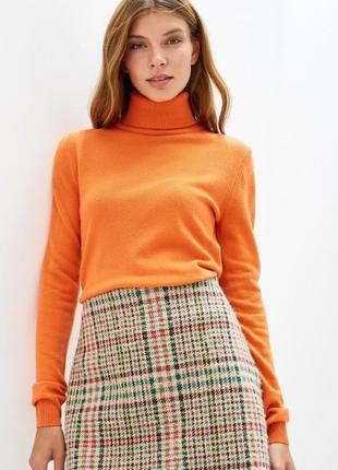 Гольф яркий оранжевый обтягивающий милано