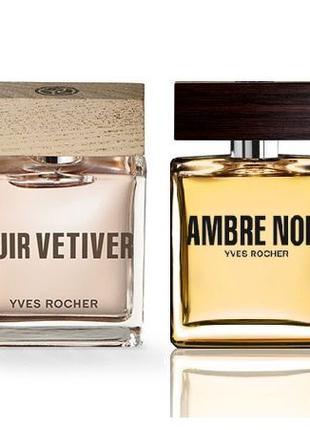 Туалетная Вода Cuir Vetiver Ambre Noir Черная Амбра Yves Rocher