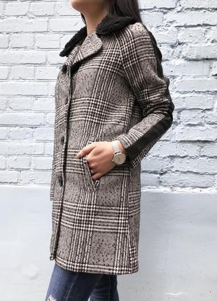 Пальто женское осенее серое
