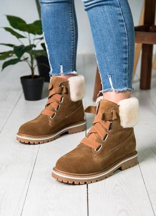 😍ugg😍женские зимние коричневые кожаные уги, ботинки зима угги.