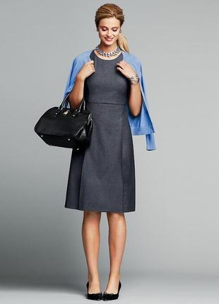 Офисное платье трапеция а-силуэта из костюмной ткани h&m