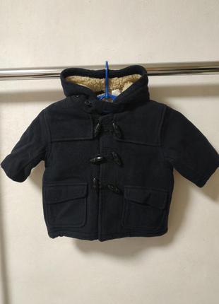 Пальто на мальчика 6-12 мес