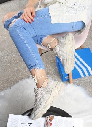 😀женские бежевые кроссовки адидас изи буст adidas yeezy boost ...