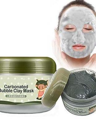 Кислородная очищающая маска с глиной bioaqua, акция!