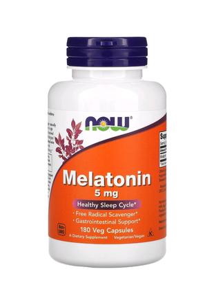 Мелатонин, 5 мг, 180 растительных капсул