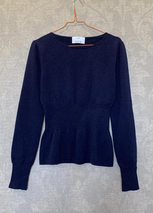 Кашемировый свитер джемпер с баской бренда allude, кашемир 100...