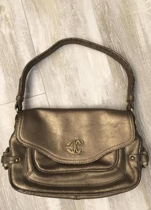 Кожаная сумка just cavalli. 100% оригинал италия.