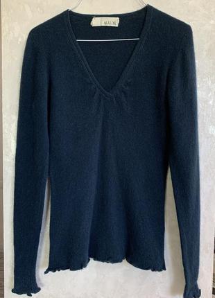 Кашемировый пуловер лонгслив бренда allude, 100% кашемир. разм...