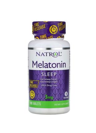 Мелатонин медленного высвобождения 3 мг, 100 таблеток