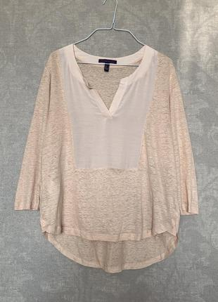Льняная блуза violeta by mango, размер м.