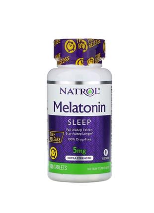 Мелатонин,медленное высвобождение,с повышенной силой действия5мг