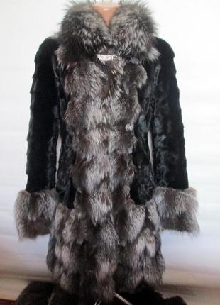 Шуба, шубка,полушубок норковая,норка-чернобурка 44-46