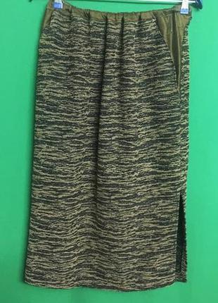 Длинная демисезонная трикотажная юбка