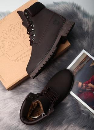 💎зимние тимберленд💎мужские\женские кожаные коричневые ботинки ...
