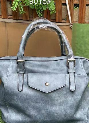 Женскпя классическая серпя сумка с длинными ручками, сумка из ...