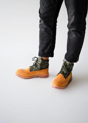 Timberland military. мужские стильные осенние ботинки тимберле...