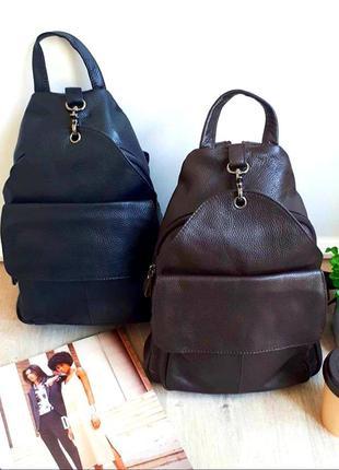 Женский кожаный коричневый рюкзак/городской рюкзак