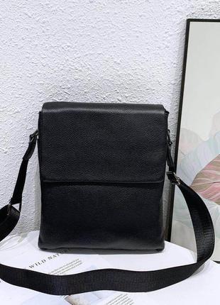 Кожаная мужская сумка через плечо / барсетка / мужские сумки /...