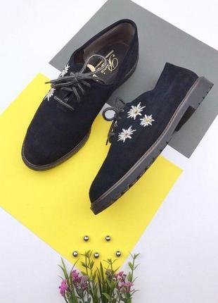 Замшевые туфли bleil