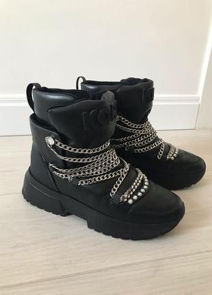 Ботинки зимние michael kors cassia leather boots оригинал сапоги