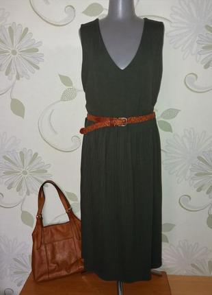 Платье трикотажное вискоза с плиссированной юбкой плиссированное