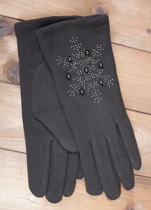 Перчатки.трикотажные стрейчевые перчатки + кролик размер мален...