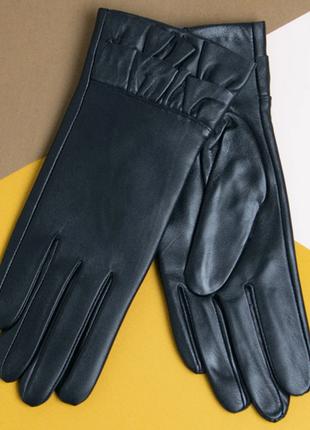 Перчатки ,кожаные перчатки с вязаной шерстяной подкладкой разм...