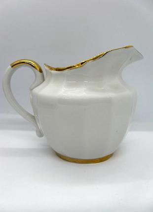 """Молочник-сливочник """"золотая лента"""", вербилки ссср, фарфор"""