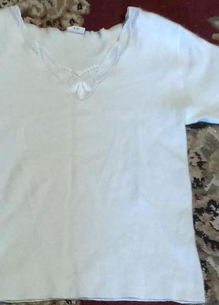 Белоснежная кофточка(футболка) ангорка