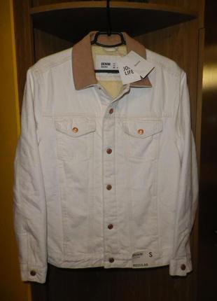 Куртка джинсовая шерпа BERSHKA (Bangladesh) oversize