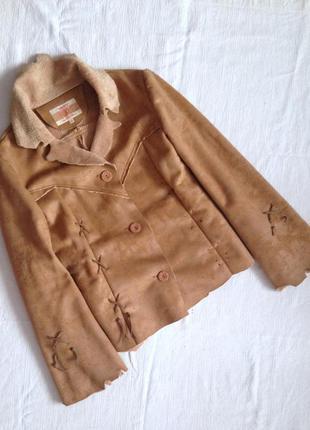 Замшеве пальто куртка піджак