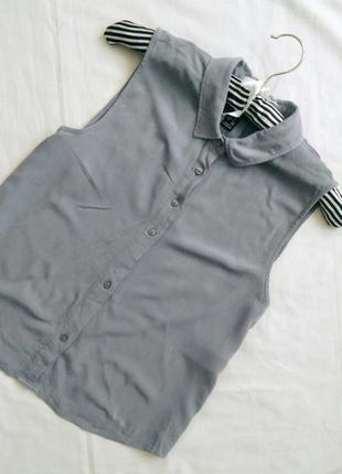 Сіра легенька блузка сорочка