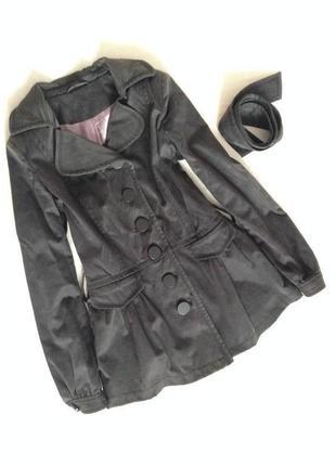 Пальто осіннє з пишними рукавами