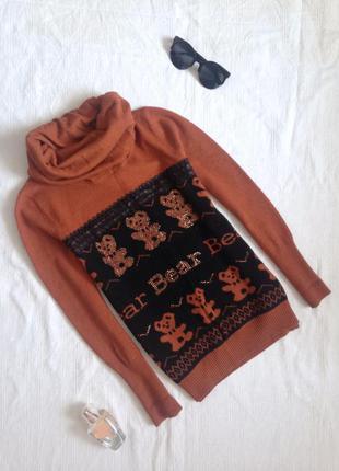 Милий теплий светр з хомутом