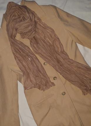 Пальто класичне тренч + шарф в подарунок