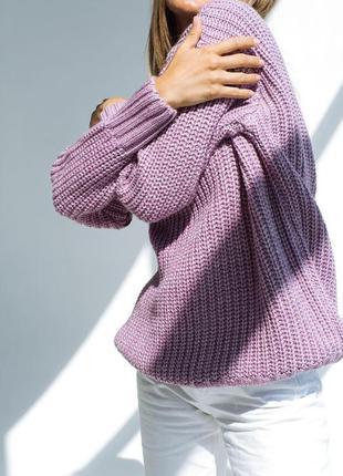 Плюшевий м'ягенький приємний светр оверсайз з блискучою ниткою