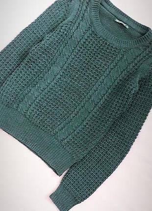 Смарагдовий изумрудний светр в'язаний