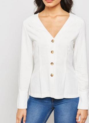 Базова блузка з гудзиками v виріз