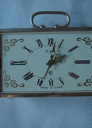 Настольные часы slava ссср с гравировкой