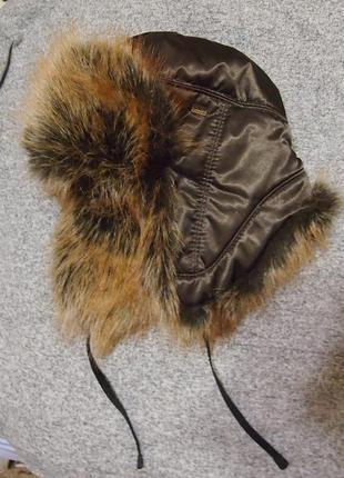 Шапка ушанка 54-57 с искусственным мехом зима