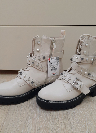 Ботинки женские новые ботінки сапоги боти хайтопы STRADIVARIUS