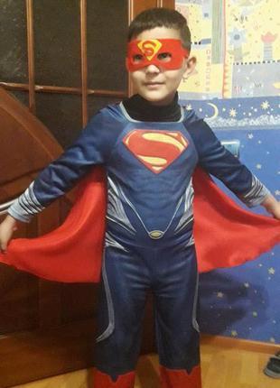 Костюм карнавальный супермен спасатель для мальчика теско
