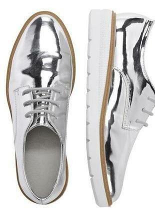 Стильные зеркальные туфли оксфорды, лоферы esmara германия